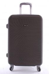 Cestovný kufor plastový-veľký-tmavosivý VZOR 3 (70x50x30