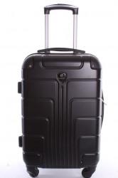 Cestovný kufor stredný (58x40x25 cm+kolieska) VZOR 5 - čierny