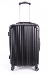 Cestovný kufor stredný HA CHI - čierny (57x40x25 cm + 5 cm kolieska)