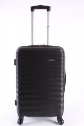 Cestovný kufor stredný HA CHI - čierny (58x40x24 cm + 5 cm kolieska)