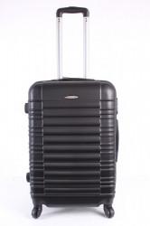 Cestovný kufor stredný LEONARDO DA VINCI - čierny (60x43x25 cm + 5 cm kolieska)