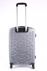 Cestovný kufor stredný LEONARDO DA VINCI - strieborno-sivý (60x43x25 cm + 5 cm kolieska) #1
