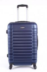 Cestovný kufor stredný LEONARDO DA VINCI - tmavomodrý (60x43x25 cm + 5 cm kolieska)