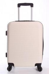 Cestovný kufor XTD malý (48x38x22 + 5 cm kolieska) - krémový