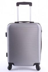 Cestovný kufor XTD malý (48x38x22 + 5 cm kolieska) - strieborný