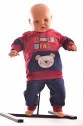 Chlapčenská dvojdielna súprava s macíkom - bordová B1 veľkosť