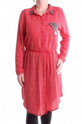 Dámska dlhá košeľa s pásikmi - bielo-červená afc3b1e98ff