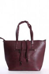 Dámska kabelka (141) vzorovaná - bordová(42x28x14 cm) #1