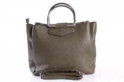 Dámska kabelka (2752A) - zelená (28x27x11 cm)