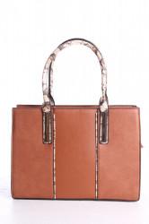 Dámska kabelka (98646-1) - hnedá (32x24x10,5 cm)