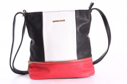 Dámska kabelka (A6850) - červeno-čierna (24x28x4 cm)