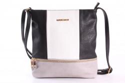 Dámska kabelka (A6850) - sivo-čierna (24x28x4 cm)
