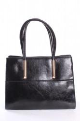Dámska kabelka HSN ANGELA (Li201) - čierna (34x27x9 cm)