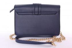 Dámska kabelka ozdobená korálkami (YF189) - tmavomodrá (23x16x8 cm) #1