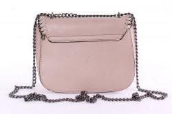 Dámska kabelka prepletaná (N-9653) - kapučíno (19x16x7 cm) #1