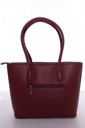 Dámska kabelka s čiernym lemovaním (A302-2) - bordová (30x26x10 cm) #1