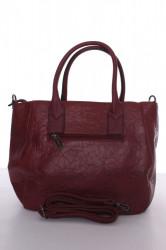 Dámska kabelka s ozdobou (SR3161) - bordová (30x28x14,5 cm) #1