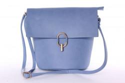 Dámska kabelka so zlatým zapínaním (28x24x14 cm) - modrá