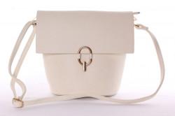 Dámska kabelka so zlatým zapínaním (28x24x14 cm) - vanilková
