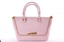 Dámska kabelka so zlatými ozdobami (26x23x14 cm) - ružová