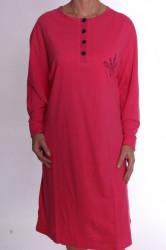 Dámska nočná košeľa s gombíkmi (5842) - ružová
