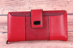 Dámska peňaženka (BY5055) - červená (18,5x9x3 cm)