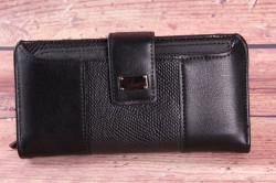 Dámska peňaženka (BY5055) - čierna (18,5x9x3 cm)
