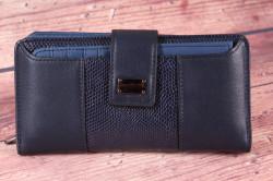 Dámska peňaženka (BY5055) - tmavomodrá (18,5x9x3 cm)
