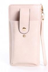 Dámska peňaženka s púzdrom na mobil (18x9,5x4,5 cm) - béžová