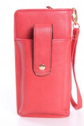 Dámska peňaženka s púzdrom na mobil (18x9,5x4,5 cm) - červená