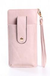 Dámska peňaženka s púzdrom na mobil (18x9,5x4,5 cm) - staroružová