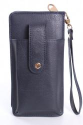 Dámska peňaženka s púzdrom na mobil (18x9,5x4,5 cm) - tmavomodrá