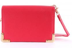 Dámska peňaženka so zlatou ozdobou - červená (14x9,5