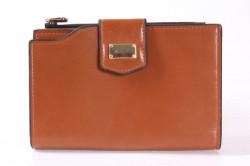 Dámska peňaženka so zlatou ozdobou - hnedá (15x10x2 cm)
