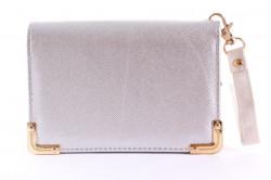 Dámska peňaženka so zlatou ozdobou - strieborná (14x9,5