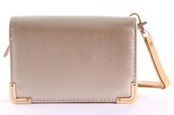 Dámska peňaženka so zlatou ozdobou - zlatá (14x9,5 cm)