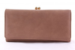 Dámska peňaženka so zlatým zapínaním - bledohnedá