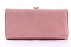 Dámska peňaženka so zlatým zapínaním - bledoružová(19x9,5
