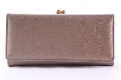 Dámska peňaženka so zlatým zapínaním - hnedo-sivá