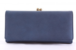 Dámska peňaženka so zlatým zapínaním - modrá (19x9,5