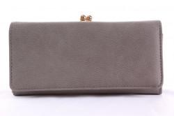 Dámska peňaženka so zlatým zapínaním - sivá (19x9,5