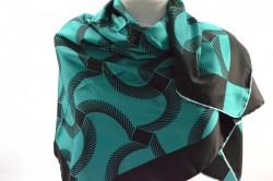Dámska šatka - tyrkysovo-zelená (90x90 cm)