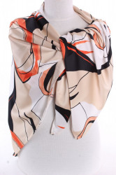 Dámska šatky VZOR 1. - oranžovo-béžová (125x120 cm)
