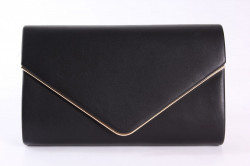 Dámska spoločenská kabela (0297-23A) - čierna (22x14x5 cm)