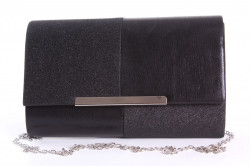 Dámska spoločenská kabela (6338) - čierna  (22x13x5 cm)