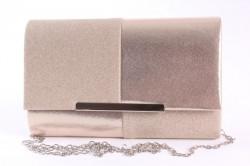 Dámska spoločenská kabela (6338) - šampanskej farby (22x13x5 cm)