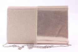 Dámska spoločenská kabela (6338) - šampanskej farby (22x13x5 cm) #1