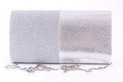 Dámska spoločenská kabelka (89637) - strieborná (23x12x5 cm) #1