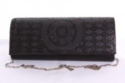 Dámska spoločenská kabelka (CK-20) - čierna(24x12x5 cm)