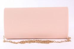 Dámska spoločenská kabelka (HD762) - broskyňová (24x12x5 cm) #1